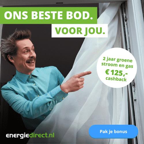Ontvang €125,00 Cashback bij Energiedirect.nl