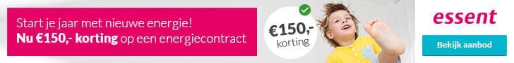 Actieaanbod Essent (€150,00 Korting)