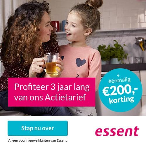 Essent €200,00 Korting + €300,00 Tariefvoordeel