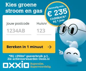 Minimaal €235,00 Cashback bij Oxxio