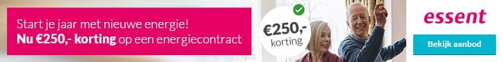 €250,00 Korting bij Essent