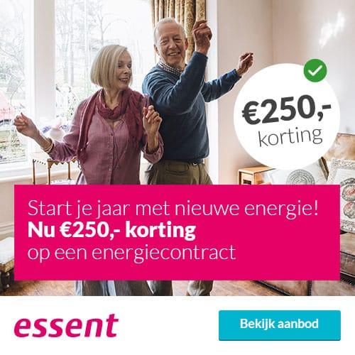 €250 Korting bij Essent 3 Jaar Groene Stroom & Gas Zeker
