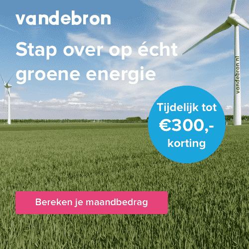 Tijdelijk tot €300,00 Korting bij Vandebron