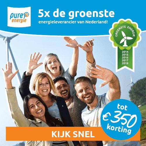 Tot €350,00 Korting bij Pure Energie
