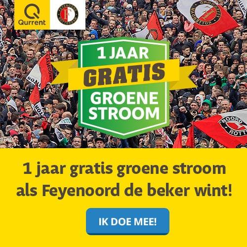 1 Jaar Gratis Groene Stroom wanneer Feyenoord de Beker wint