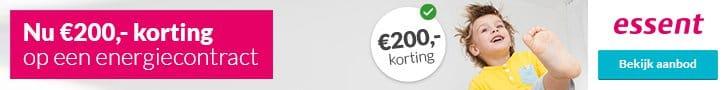Actieaanbod Essent (€200,00 Korting)