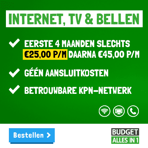 Budget Alles-in-1 Pakket Review - Nu 4 maanden €20,00 Korting