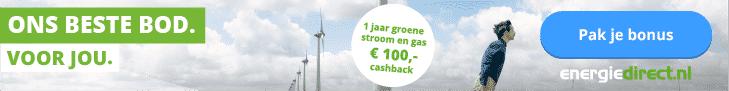 €100,00 Korting Energiedirect.nl 1 Jaar