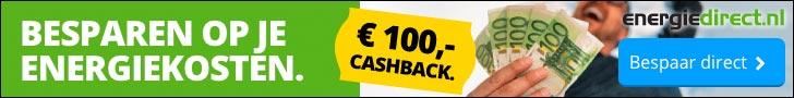Tijdelijk tot 100 euro extra korting bij Energiedirect
