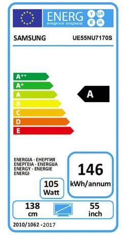 Energielabel TV