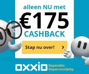 Energieleverancier Oxxio met €175,00 cashback!