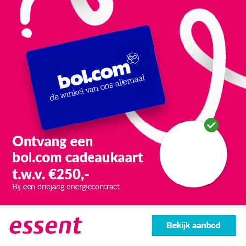 Essent met €250,00 Bol.com Cadeaubon (Gratis)