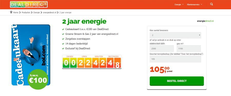 Gratis €100,00 Bol.com cadeaukaart bij DealDirect