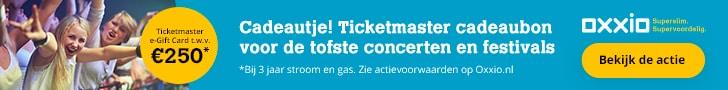 Ticketmaster e-Gift Card (€250,00) Cadeau bij Oxxio