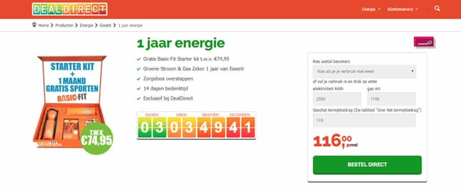 Gratis Basic-Fit Starter Kit bij DealDirect