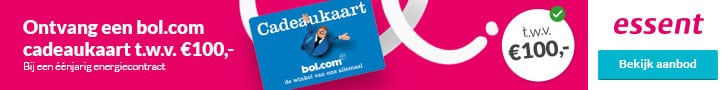 Gratis Bol.com Cadeaukaart bij Essent (€100,00)