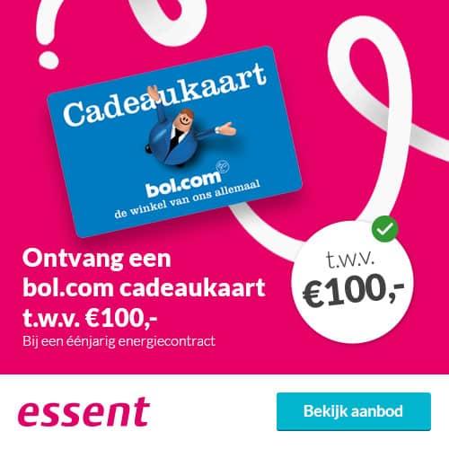 Gratis Bol.com Cadeaukaart bij Essent (€100)