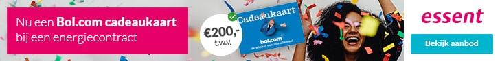 Bol Cadeaukaart (€200,-) bij Essent