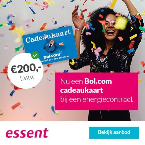 Gratis Bol.com Cadeaukaart bij Essent (€200)
