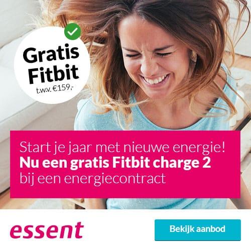 Gratis Fitbit Charge 2 bij Essent 1 Jaar Groene Stroom & Gas Zeker
