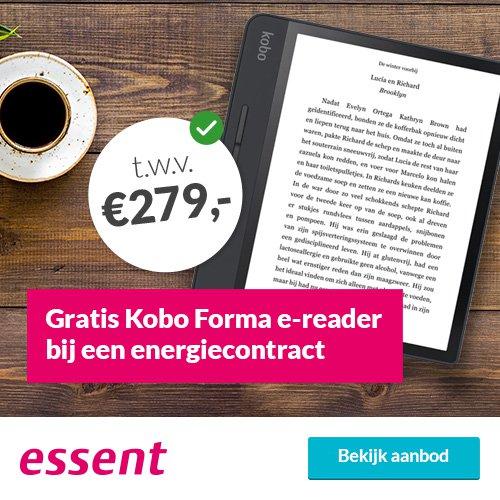 Gratis Kobo Forma e-reader bij Essent 3 Jaar Vast