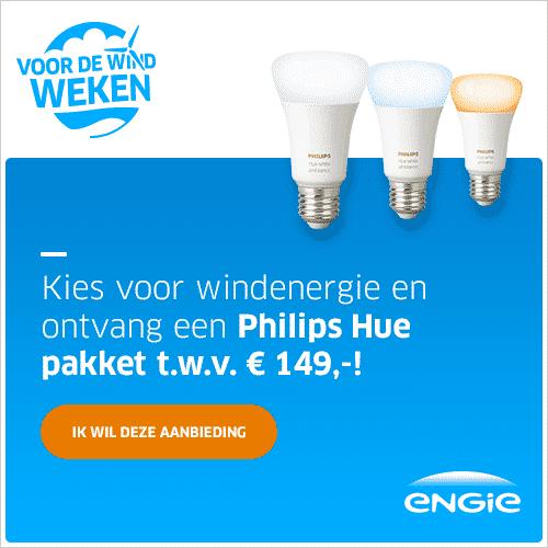 Gratis Philips Hue Startpakket bij ENGIE 3 Jaar Vast