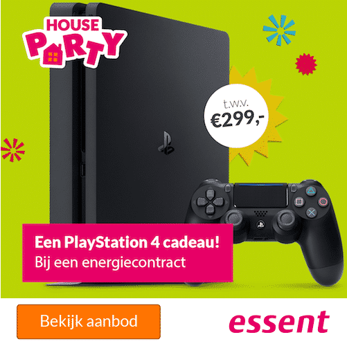 Gratis Playstation 4 Slim 500GB bij Essent