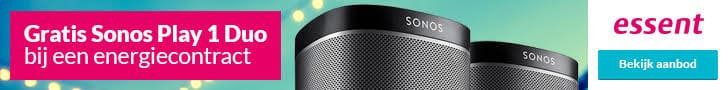 Gratis Sonos Play1 Duo Speakers bij Essent