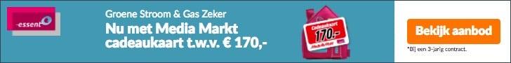 Gratis €170,00 Cadeaubon Mediamarkt bij Essent