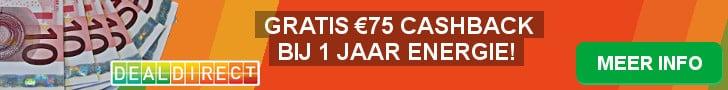 Nu €75,00 welkomstkorting bij DealDirect