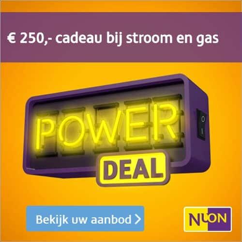Nuon Powerdeal; Ontvang €250,- Cadeau + 5% Korting op Stroom