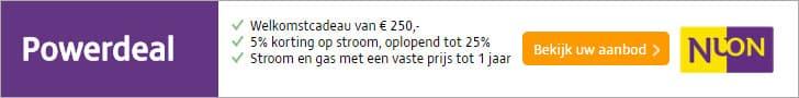 Nuon Powerdeal; €250,- Cadeau + 5% Korting op Stroom