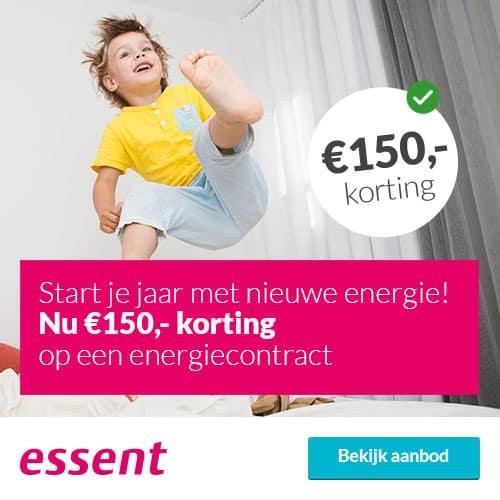 Ontvang €150,00 Korting bij Essent 1 Jaar Prijs Zeker