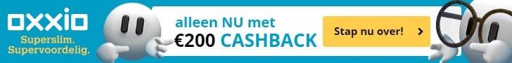 Ontvang 200 euro cashback bij Oxxio 3 Jaar Vast