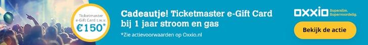 Ticketmaster e-Gift Card (€150,00) Cadeau bij Oxxio