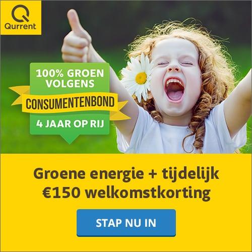 Tijdelijk €150,00 Korting bij Qurrent