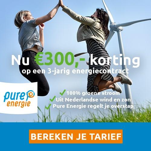 Tijdelijk €300,00 Korting bij Pure Energie