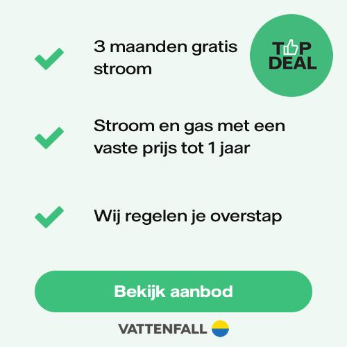 Vattenfall Topdeal - Ontvang 3 maanden gratis stroom