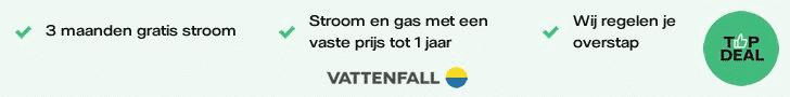 Vattenfall Topdeal - Ontvang 3 maanden stroom cadeau!