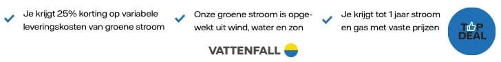 Vattenfall: 25% Korting + Solar Charger Cadeau