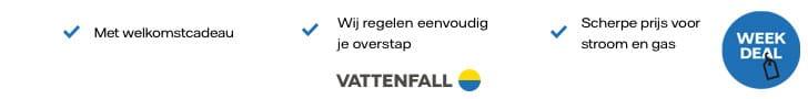 Vattenfall Weekdeal - Energie met welkomstcadeau